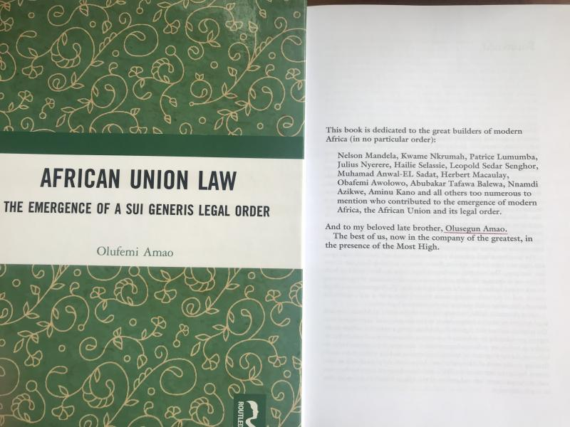 African Union Law Segun Amao